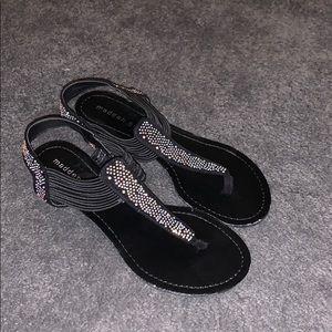 Black Madden Girl Sandels